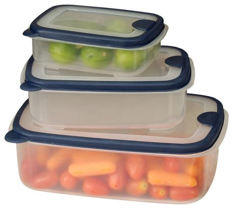 plastic food storage containers with lids shop houzz cookpro 6 plastic container set with