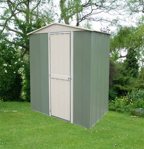 Garden Shed Canberra by Canberra 6ft X 4ft Hinged Door Galvanised Steel Apex Shed