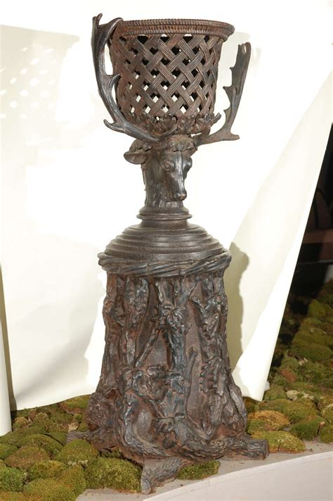 Iron Planter Stand by Iron Planter With Stand For Sale At 1stdibs