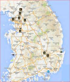 bases in united states map us bases in south korea on map