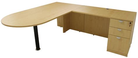 Maple Peninsula U Shaped Workstation With Hutch Maple L Shaped Desk