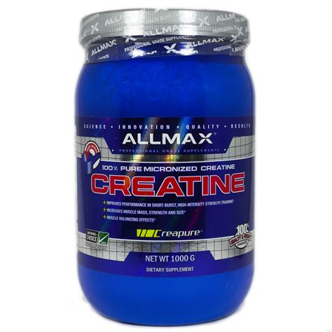 7 grams creatine creatine monohydrate by allmax 1000 grams