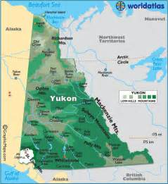 yukon canada large color map