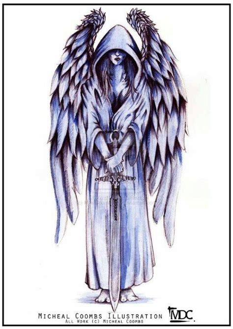 guarding angel tattoo sketch best tattoo designs