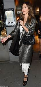 Alba Goes Chanel by Alba Wows In Shimmering Trench Coat In For