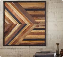 Pottery Barn Craft Table Knock Off Geometric Pieced Wood Wall Art