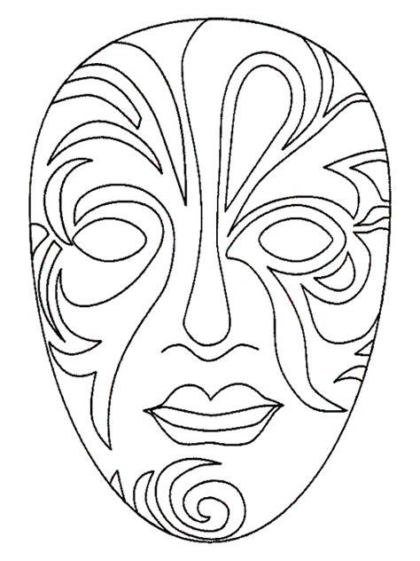 kabuki mask template masques masque de carnaval 224 colorier