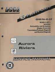 car repair manuals online pdf 1996 buick riviera transmission control 1996 oldsmobile aurora buick riviera g platform service repair manual 2 vol set