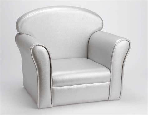 fauteuil club pour enfant argent 233 de la amadeus