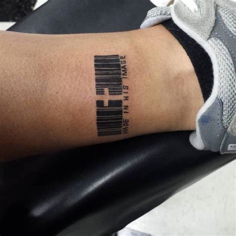 bar code tattoo best 25 barcode ideas on
