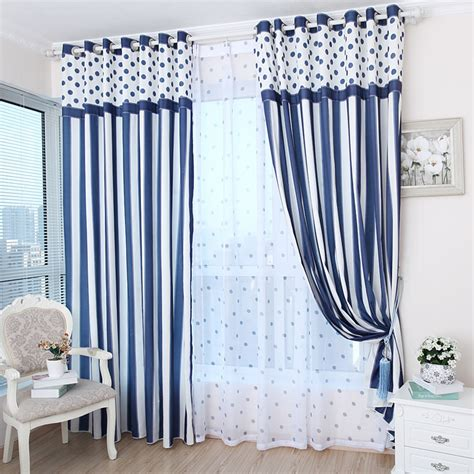 striped bedroom curtains free shipping textiles simple blue striped curtains