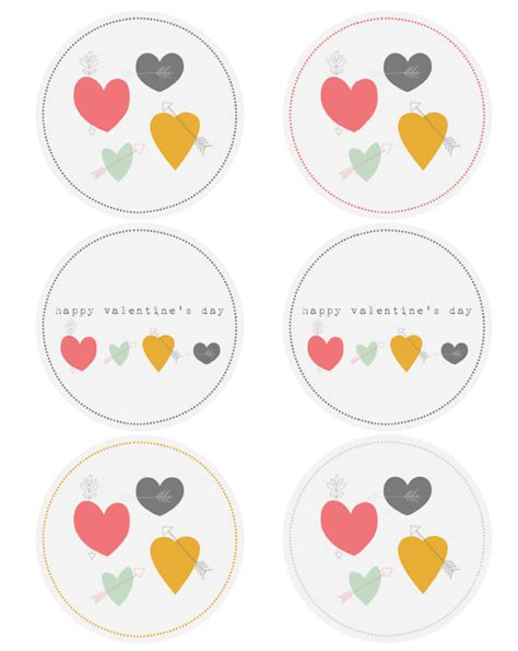 printable heart stickers free hearts arrows valentine labels by catherine auger free