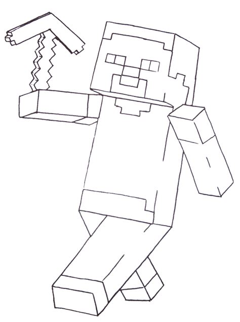 free coloring pages of minecraft for kids
