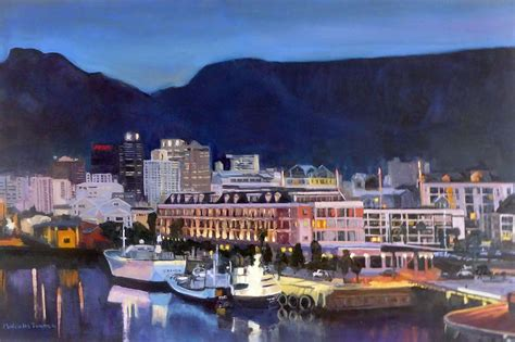 paint nite cape town cape town waterfront at painting by malcolm turner
