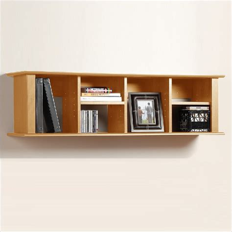 prepac sonoma maple wall mount bookcase mhd 1348