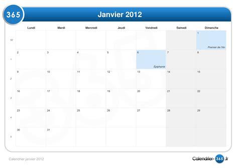 Calendrier 6 Janvier Calendrier Janvier 2012