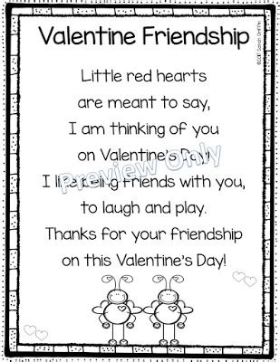 preschool valentines day poems daughters and kindergarten 5 s day poems for