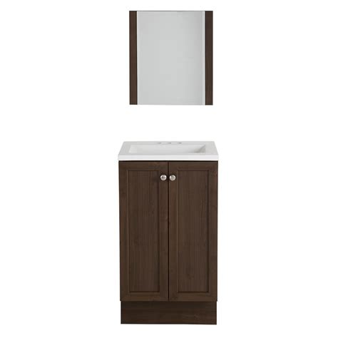 Kitchen Faucet Reviews glacier bay highview 18 25 in w vanity in bark with