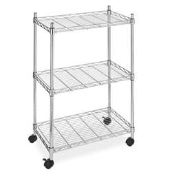 wire shelving with wheels new wire shelving cart unit 3 shelves w casters shelf rack