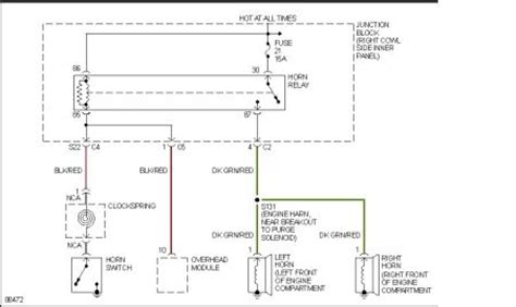 1998 jeep horn wiring diagram jeep auto parts