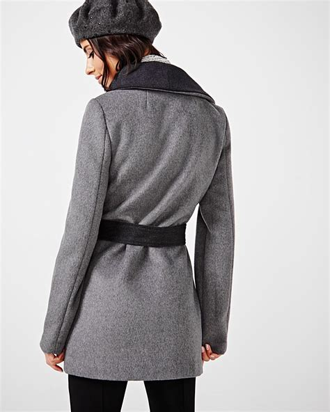 Wool Blend Wrap Coat wool blend wrap coat rw co