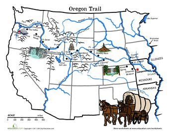 map of oregon landmarks oregon trail map the wagon of 1843 trains trail