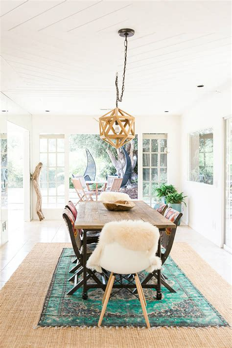 bohemian dining room peaceful yet stunning bohemian bungalow decoholic