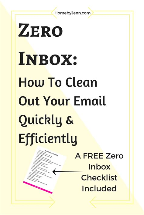 how to clean house fast and efficiently zero inbox how to clean out your email quickly and