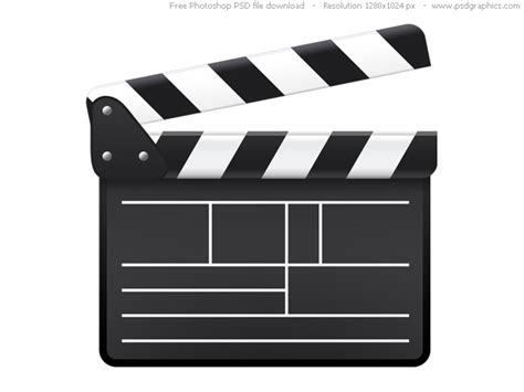 Psd Movie Clapboard Icon Psdgraphics Clapboard Template