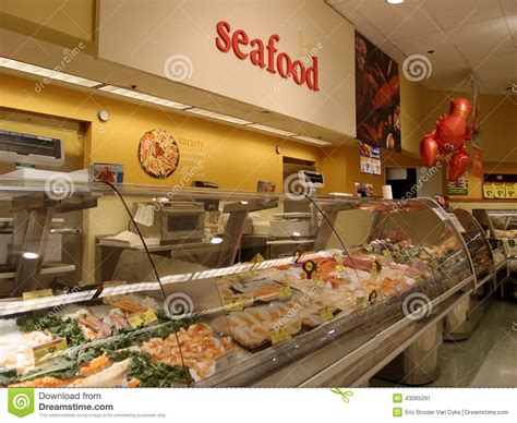 Seafood Section At Supermarket Editorial Photo Image