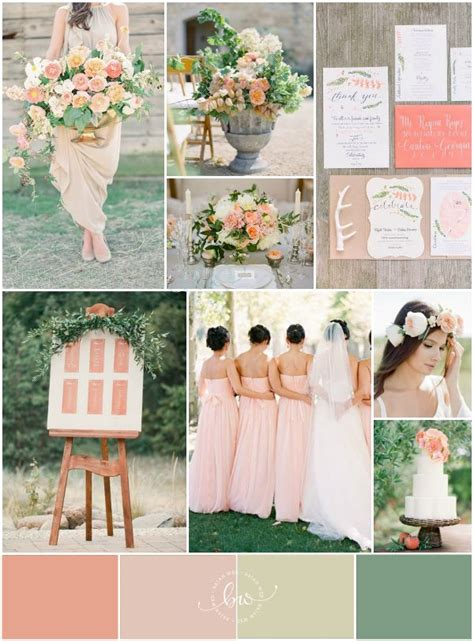 peach and green colour owambe elegant outdoor peach wedding inspiration bajan wed