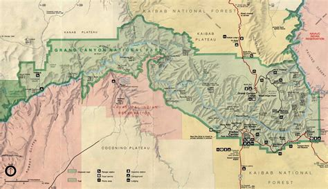 grand map arizona grand national park maps