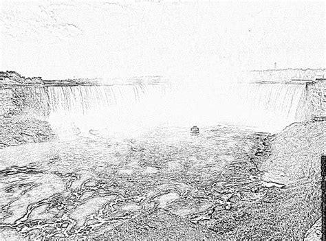 The Imposing And Magnificent Niagara Falls With Ma Niagara Falls Coloring Page