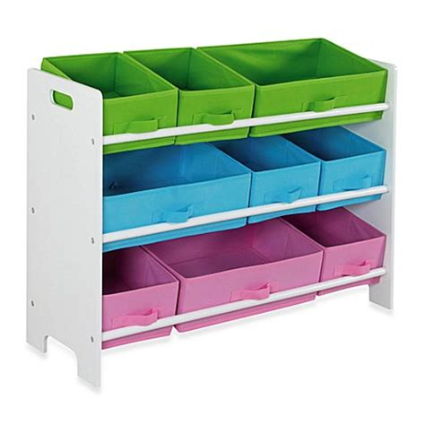 The Bed Storage Bins by Buy Hds Trading 9 Bin Storage Shelf From Bed Bath Beyond