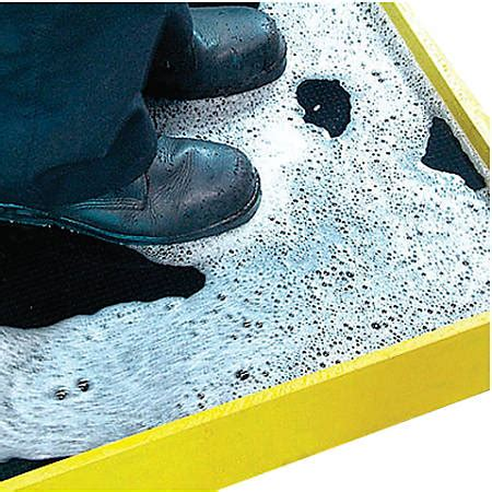 Disinfectant Mat For Cleaning Shoes - crown mats disinfectant boot bath mat 32 x 39 blackyellow