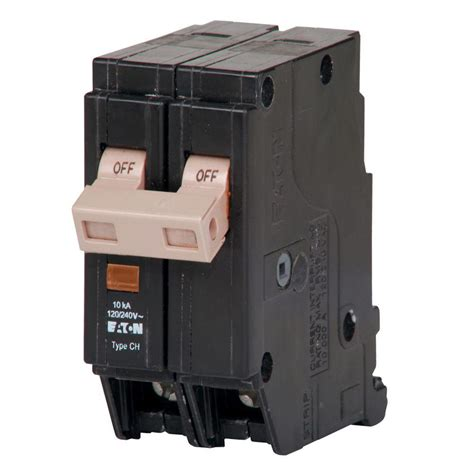 broken circuit breaker eaton 20 1 5 in pole type chf breaker chf220