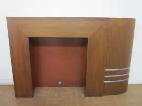 spectacular streamline deco fireplace mantel for sale