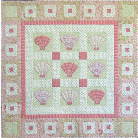 Seashell Quilt Pattern sea shell quilt pattern on the half shell quilt sea