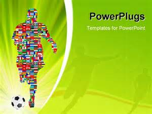 soccer powerpoint templates soccer player in global soccer event eps 8 vector file