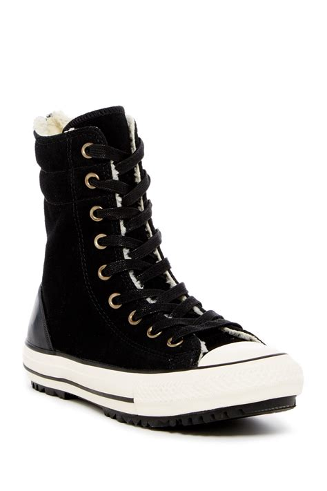 shearling lined sneakers converse chuck hi rise faux shearling lined