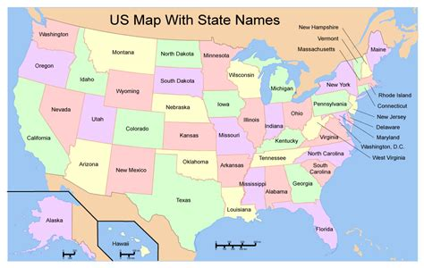 map usa vector us map free vector with state names in adobe illustrator
