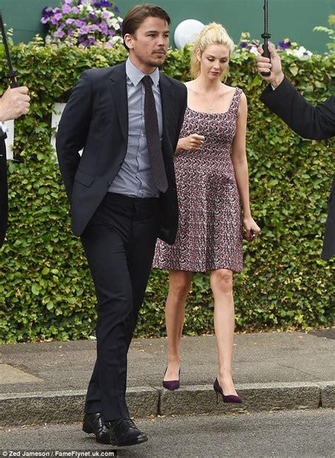 Pregnant Tamsin Egerton And Josh Hartnett Spotted At Wimbledon Daily | pregnant tamsin egerton and josh hartnett spotted at