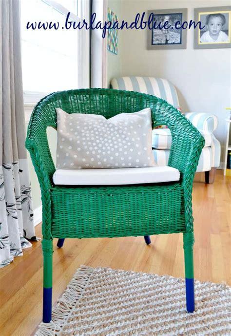 blue wicker chair ikea ikea wicker chair makeover