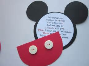 embellishing mickey birthday invitations