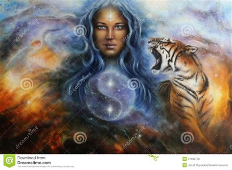 Goddess Lada The Goddess Lada In Spacial Surroundings With A