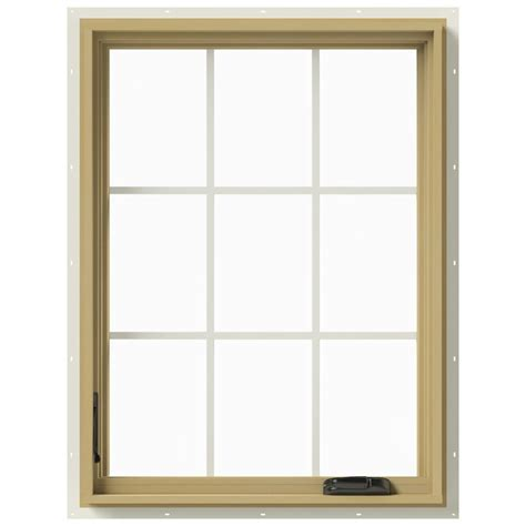 Jeld Wen Aluminum Clad Wood Windows Decor Jeld Wen 30 In X 40 In W 2500 Left Casement Aluminum Clad Wood Window Thdjw140100444