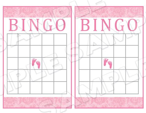 Baby Shower Bingo Card Template by 4 Best Images Of Printable Baby Shower Bingo Card Template
