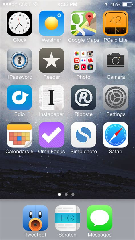 the ios 7 home screen upgrade shawn blanc