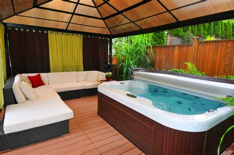 secluded backyard ideas 34 soothing hot tub ideas