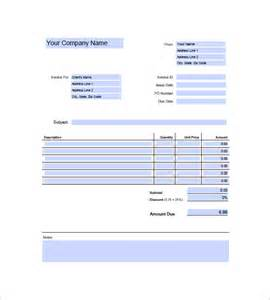 Freelance Invoice Template Excel by Freelance Invoice Template 8 Free Word Excel Pdf